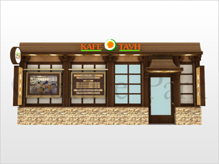 дизайн входной группы ресторана